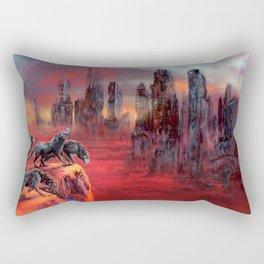 Wolves of Future Past landscape Rectangular Pillow