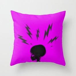 Brain Zaps - Pink Throw Pillow