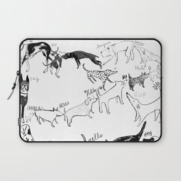 Dogs say Hello Laptop Sleeve