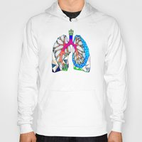 lungs Hoodies featuring Lungs by Heidi Failmezger
