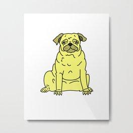 Pug Buddy Metal Print