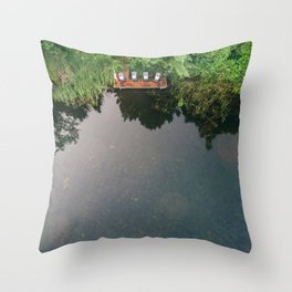 Cottage Dock Throw Pillow