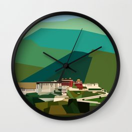 Potala Palace, Lhasa, Tibet, China Wall Clock