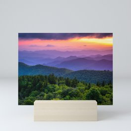 Sundown from Cowee Mountains Landscape Mini Art Print
