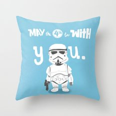salute the troops Throw Pillow