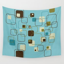 Mid-Century Modern Hep Cat (teal) Wall Tapestry