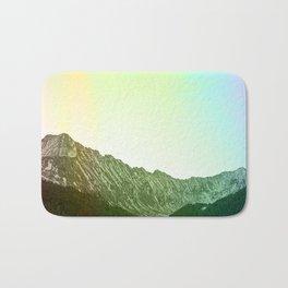 Rainbow Ridge Snow Capped Mountain Range \\ Colorado Landscape Photography \\ B&W Ski Season Art Bath Mat