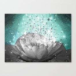 Lotus Stardust Cloud Canvas Print