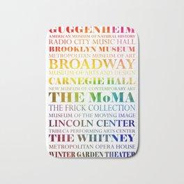 New York City - arts in color Bath Mat