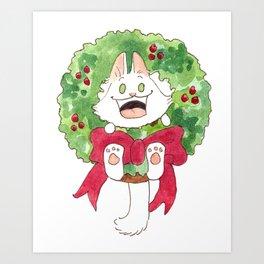 Lupin in a Wreath Art Print