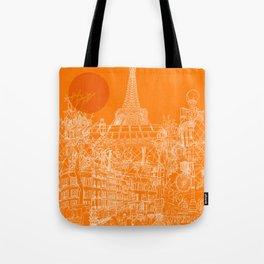 Paris! Orange Sun Tote Bag
