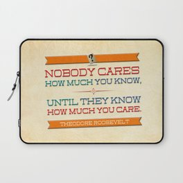 How Much You Care Laptop Sleeve