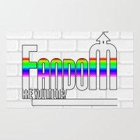 fandom Area & Throw Rugs featuring FANDOM by Jessica Jimerson