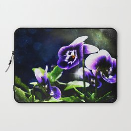 Violet Johnny Jump Ups And Stars Laptop Sleeve