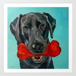Ozzie the Black Labrador Retriever Art Print