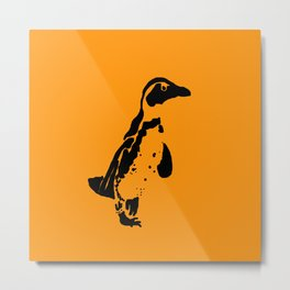 Penguin Patches Metal Print