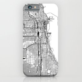 Chicago White Map iPhone Case