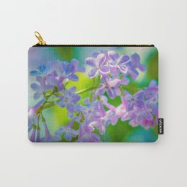 Purple Lilac Flowers Carry-All Pouch