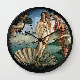 Botticelli Venus On Half Shell Low Poly Geometric Triangles Wall Clock
