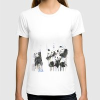 pandas T-shirts featuring Pandas by ellaclawley
