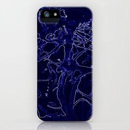 Inorganic blue 3 iPhone Case