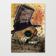 Skull in a Top Hat Canvas Print