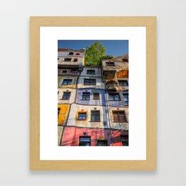 Hundertwasserhaus Vienne Autriche 3 Framed Art Print
