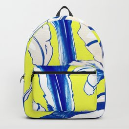 Plant in Blue Marker - Leaf of Life Miracle Leaf - Yellow Backpack