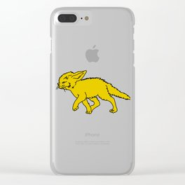 The Sly Fennec Fox Clear iPhone Case