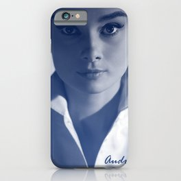 Audrey in White iPhone Case