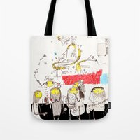 jazz Tote Bags featuring Jazz by Nayoun Kim