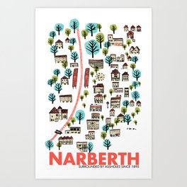 Narberth Surrounded Art Print