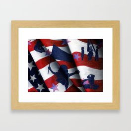 Land Of The Free Because Of The Brave! Framed Art Print