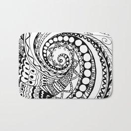 tangle geometric zen pattern2 Bath Mat