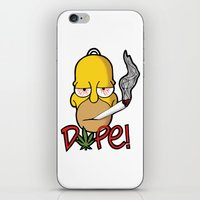 simpson iPhone & iPod Skins featuring Dope Homer Simpson by DeMoose_Art