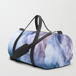 Blue and purple abstract heavenly clouds smoke Duffle Bag