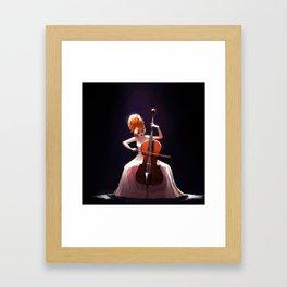 The Cello Player Framed Art Print