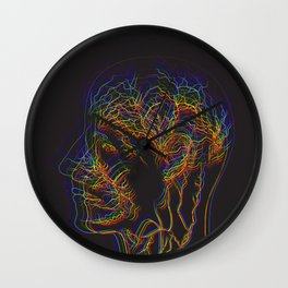 The illustration of human nervous system Wall Clock