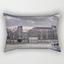 Seine wharf, Paris, France Rectangular Pillow