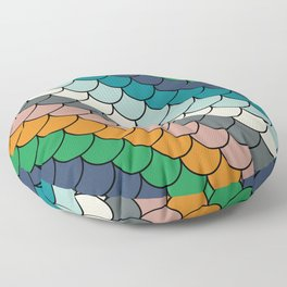 Colorful scales pattern I Floor Pillow