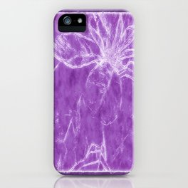 Mottled Red Poinsettia 1 Ephemeral Outlined Purple iPhone Case