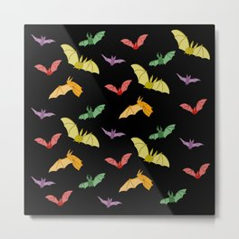 Rainbow Bats Metal Print