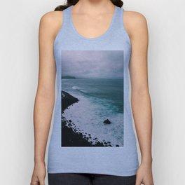 Dark and Stormy Blue Ocean Waves  - Unisex Tank Top