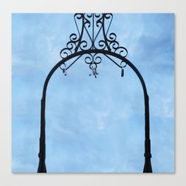 Cloud and Sky with padlock Canvas Print