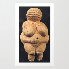 Venus of Willendorf Neolithic Fertility Goddess Low Poly Geometric Art Print