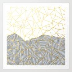 Ab Half and Half Grey Art Print