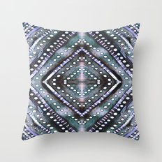 Ice Storm Dark Throw Pillow