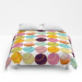 Pop Art Baseballs Comforters