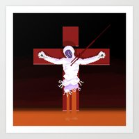 neon genesis evangelion Art Prints featuring Lilith (Neon Genesis Evangelion) by CatOverlord