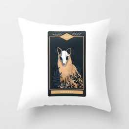 Tarot Card Death Fox Skull Animal And Nature Collection Throw Pillow